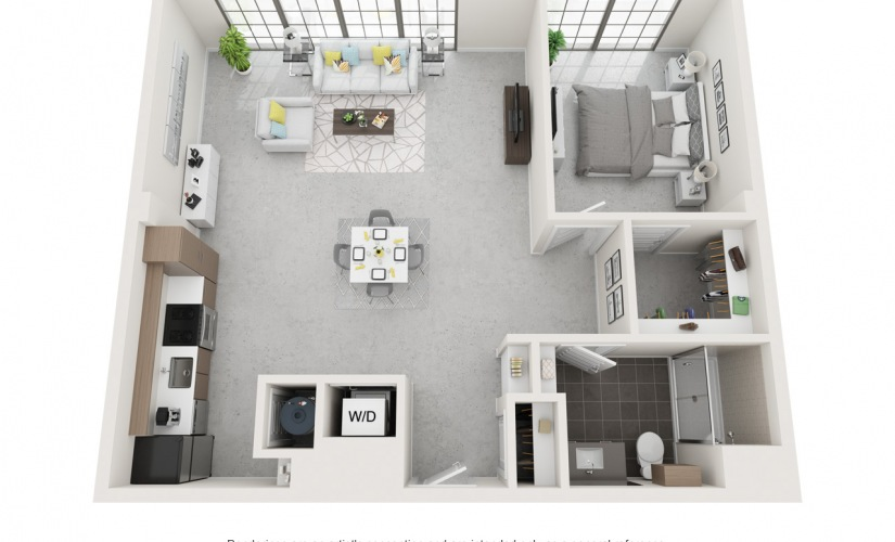 Studio 1 2 3 Bedroom Apartments For Rent At Flats At Ponce City Market