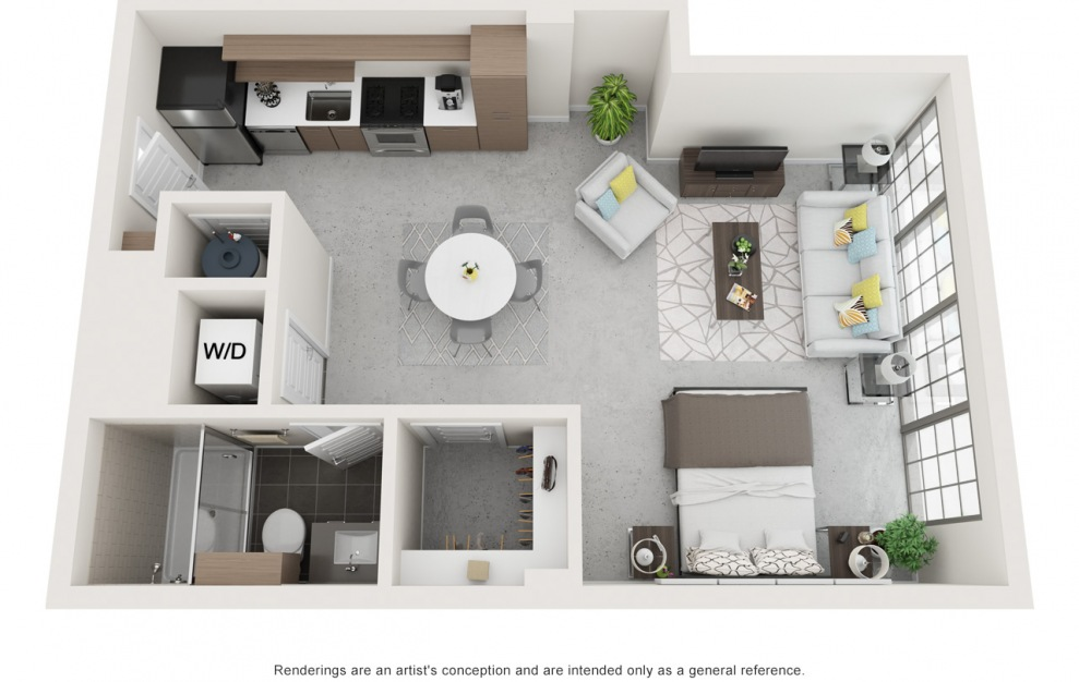 2 Bedroom Floorplan