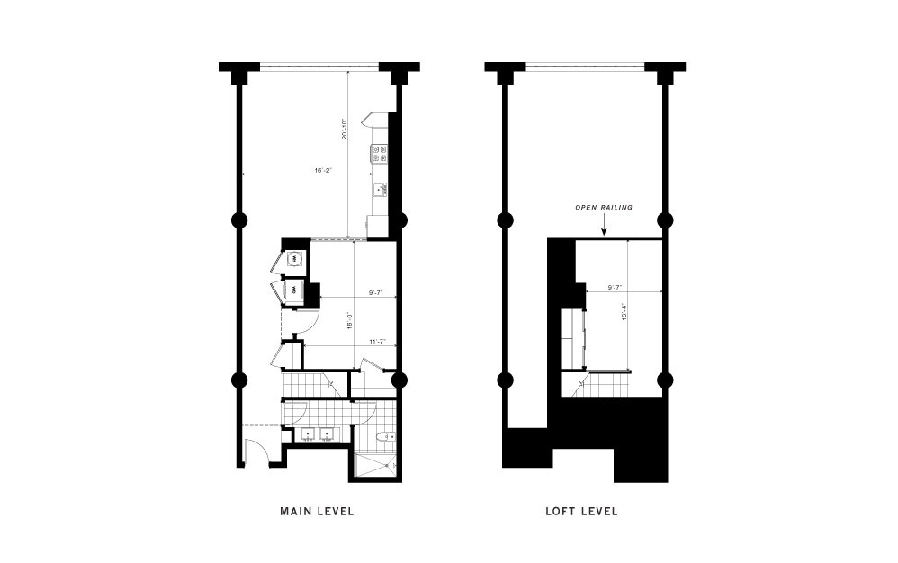 The Maddox - 1 bedroom floorplan layout with 1 bath and 1230 square feet.