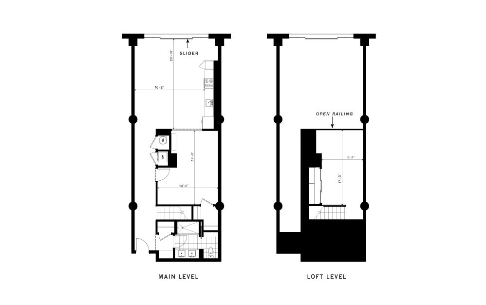 The Renaissance - 1 bedroom floorplan layout with 1 bath and 1280 square feet.